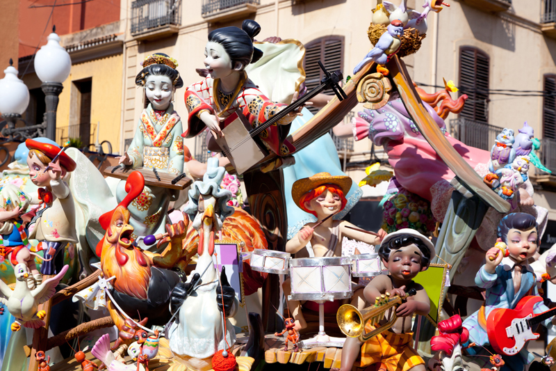 Fallas-fest-figures-on-Valencia-provincee