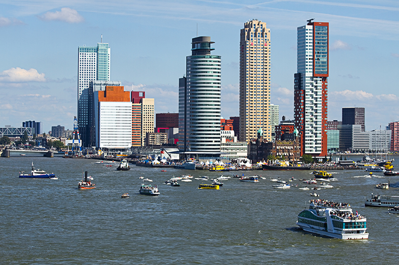 Rotterdam, the Netherlands from the riverside res