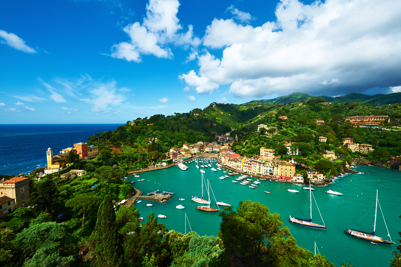 Portofino-village-on-Ligurian-coast-Italy