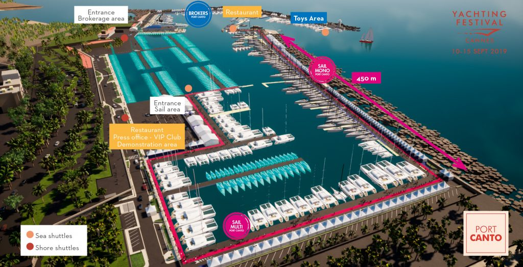Yachting Festival de Cannes Map