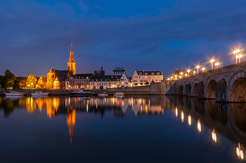 View on Wijck in Maastricht, The Netherlands res
