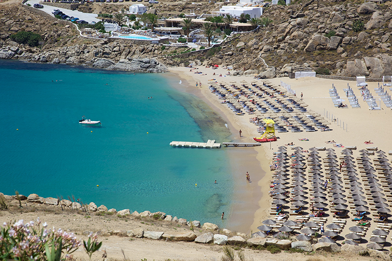 Beach on Mykonos island res