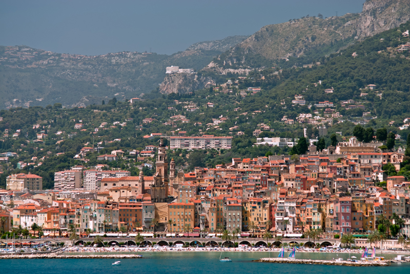 Medieval town of Menton - French Riviera, France