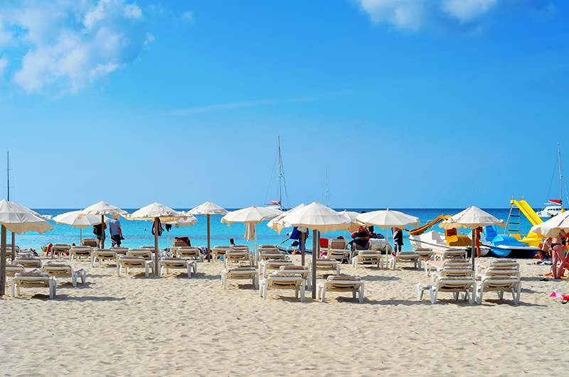 Ses Illetes Beach in Formentera, Balearic Islands, Spain res