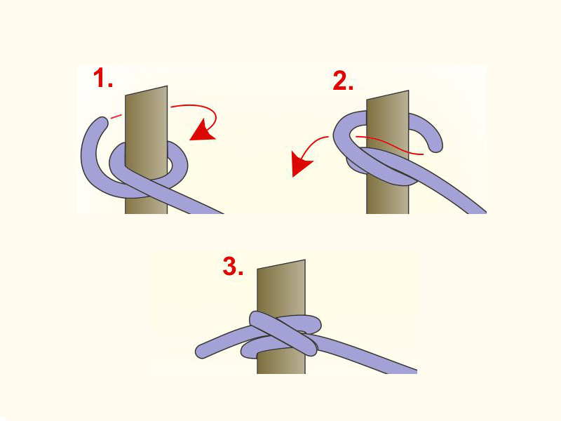 Cow Hitch - how to tie a knot