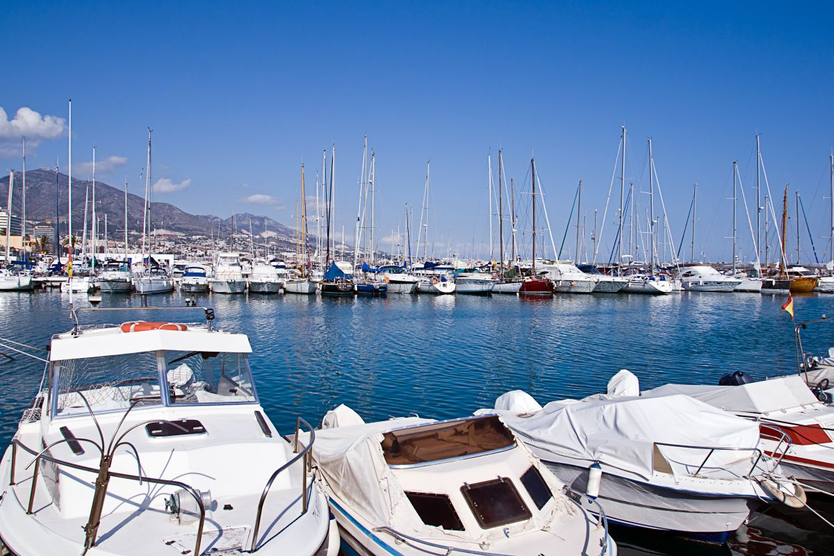 boats in Fuengirola port, Spain